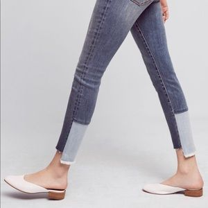 Pilcro Anthropologie Script Two Tone Denim Jean LL